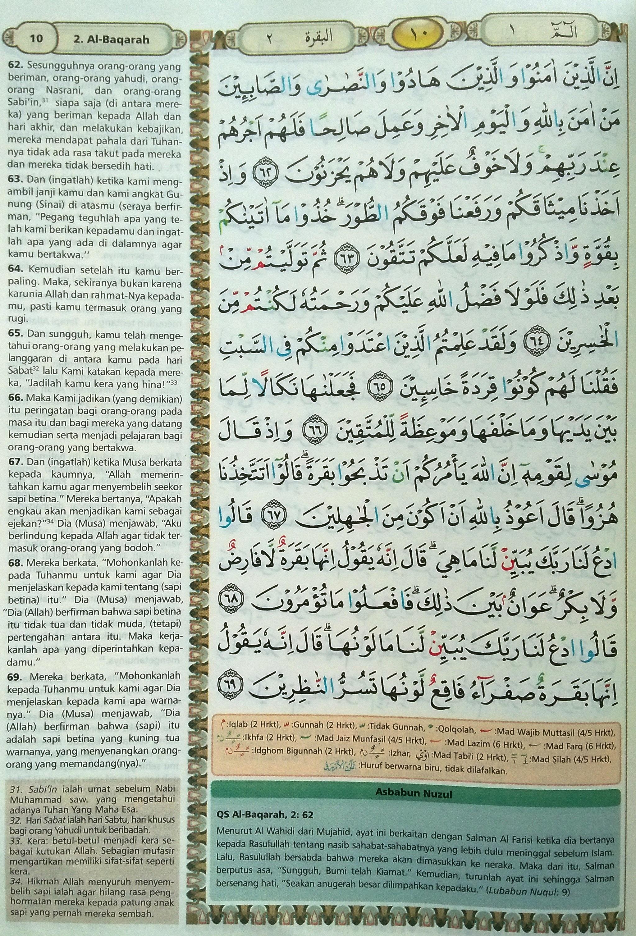 Al Baqarah 62-69