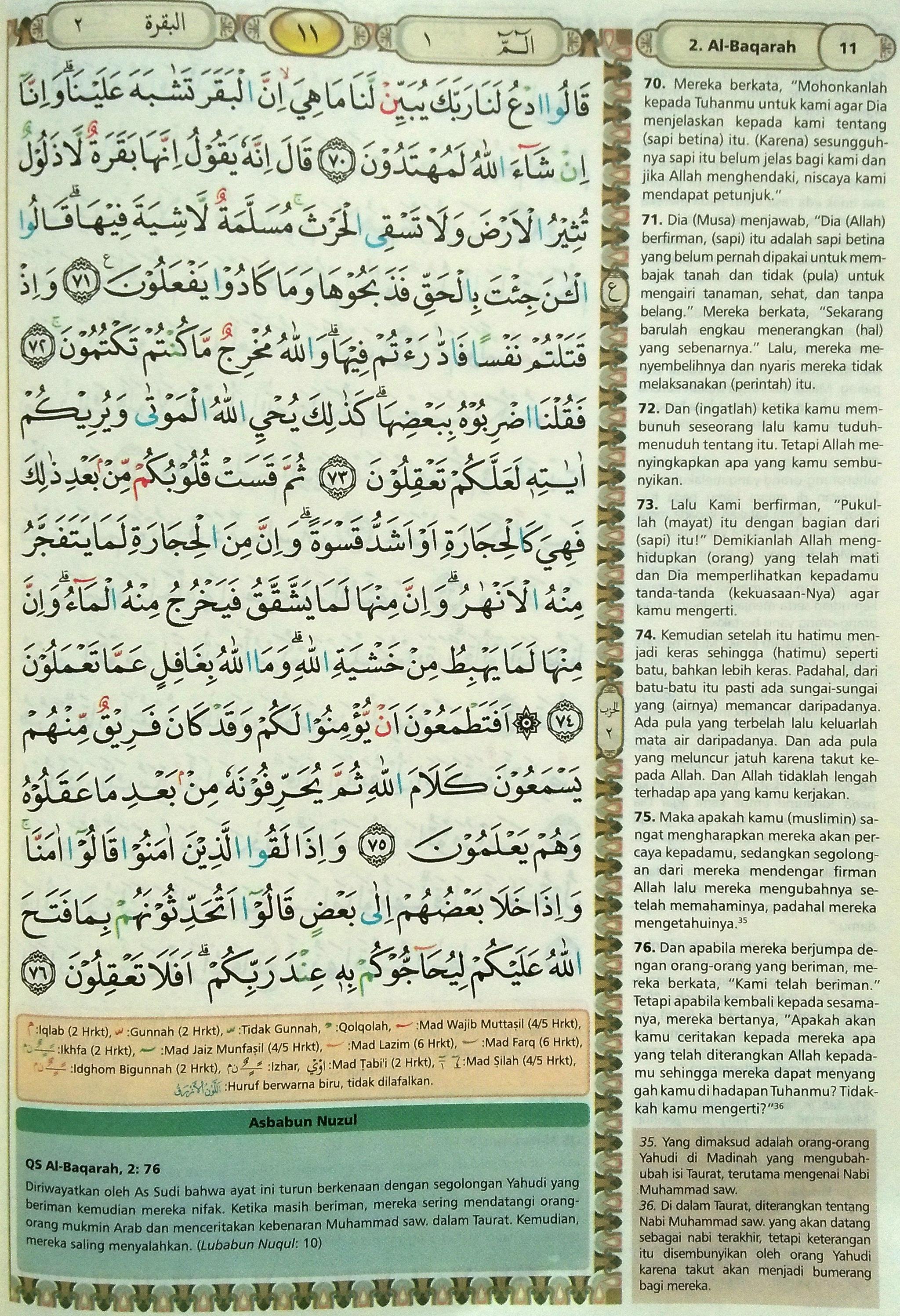 Al Baqarah 70-76