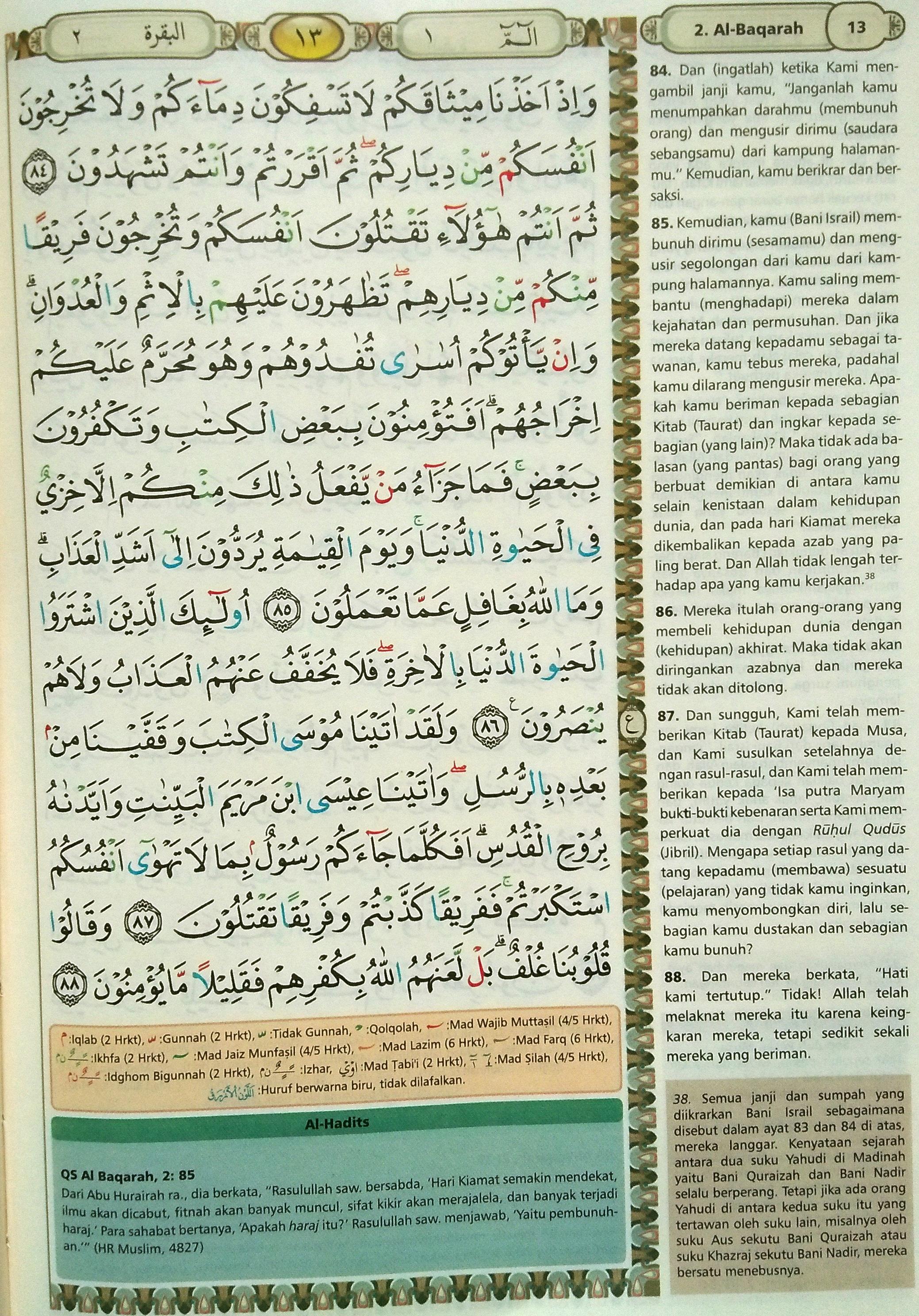 Al Baqarah 84-88