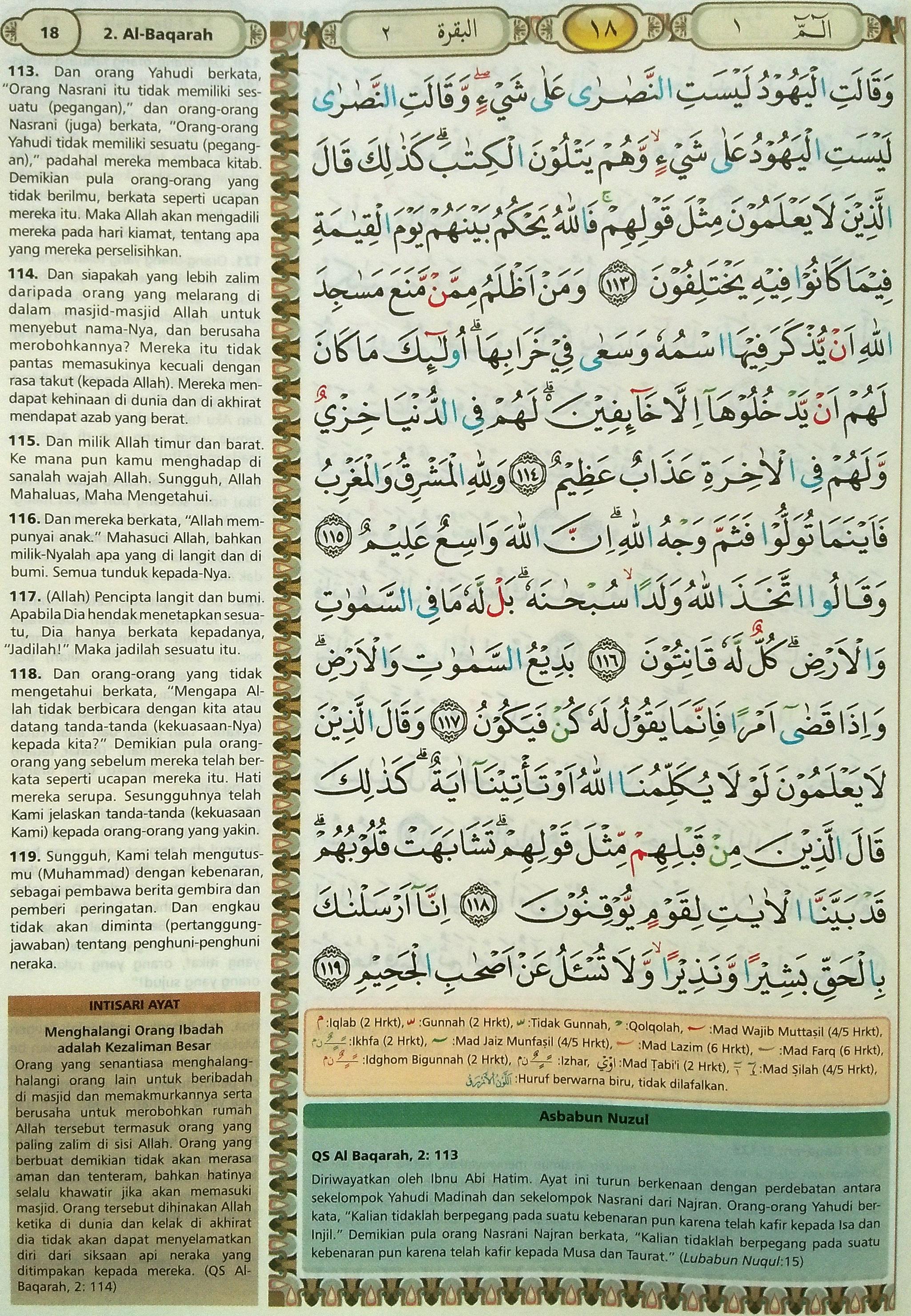 Al Baqarah 113-119
