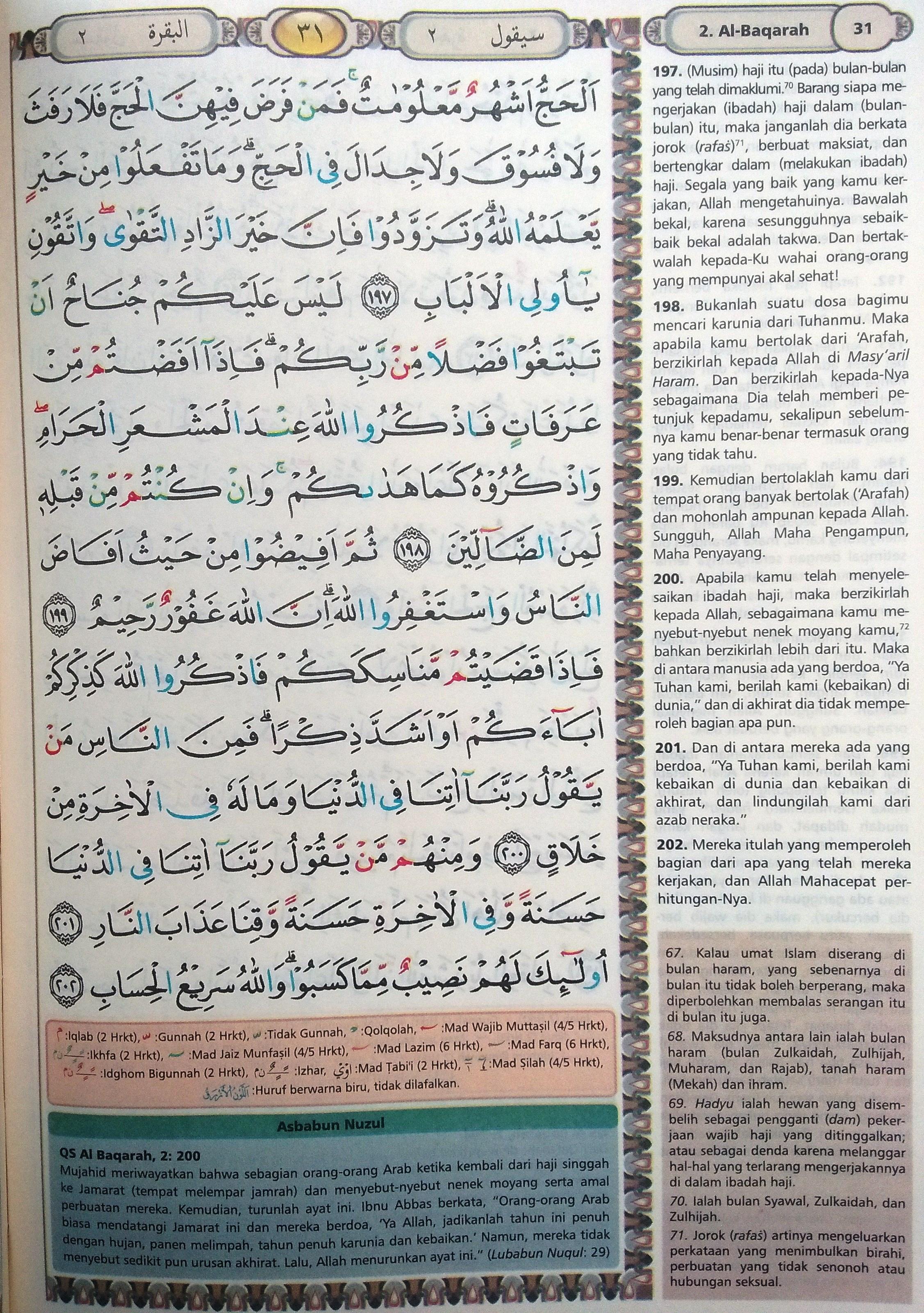 Al Baqarah Ayat 197-202