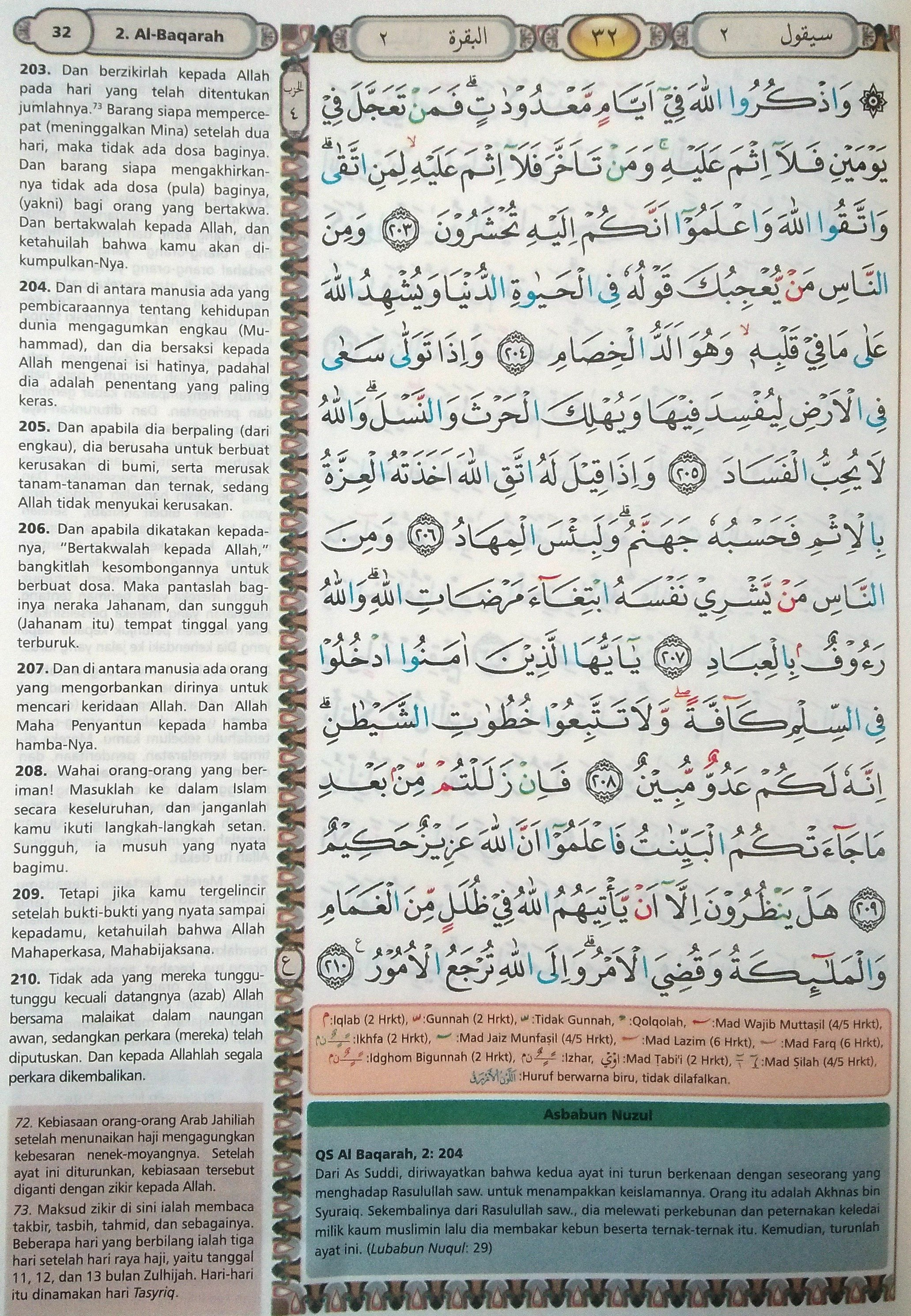 Al Baqarah 203-210