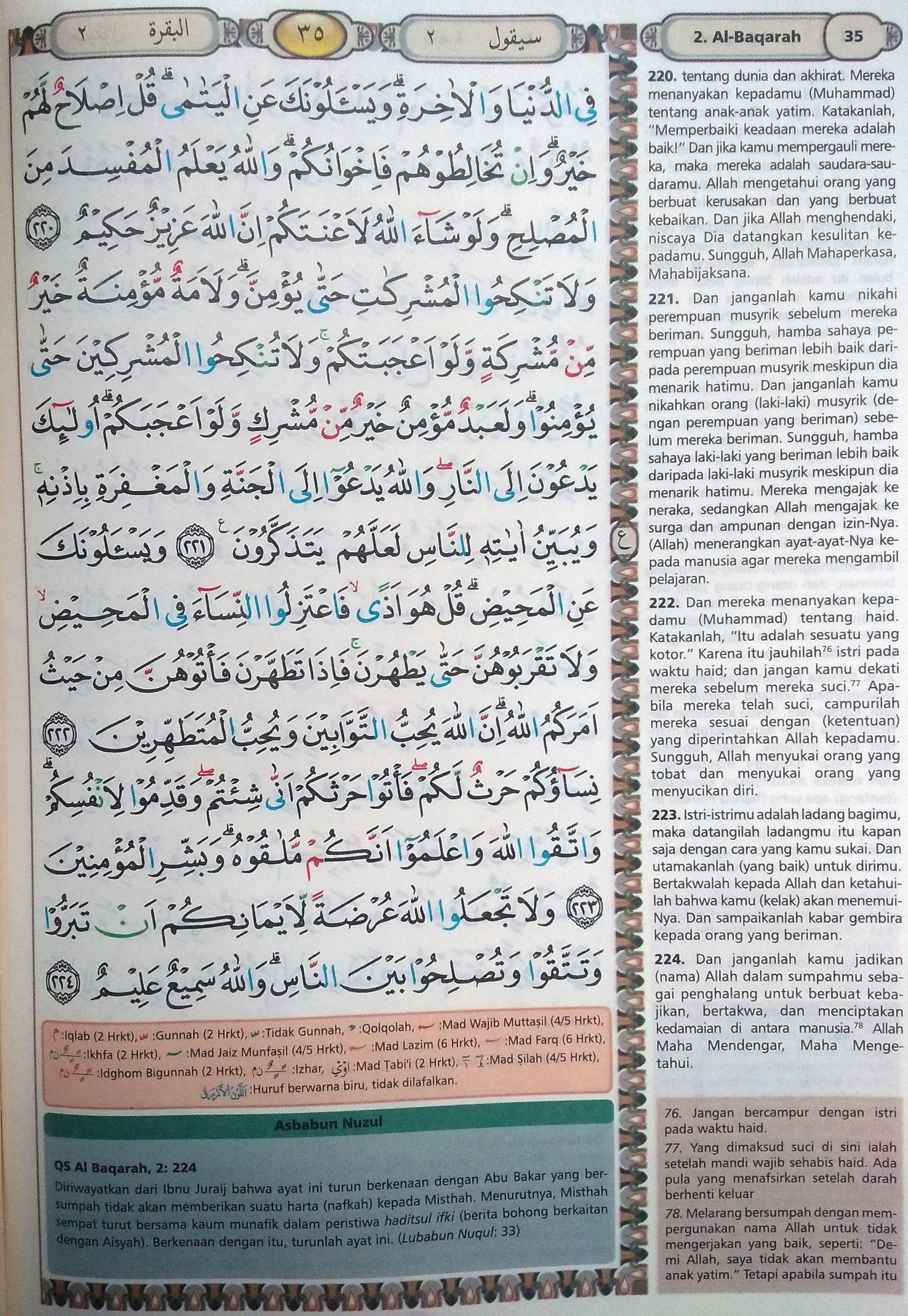 Al Baqarah 220-224