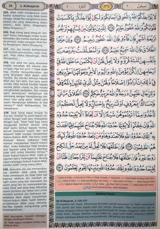 Al Baqarah 225-230