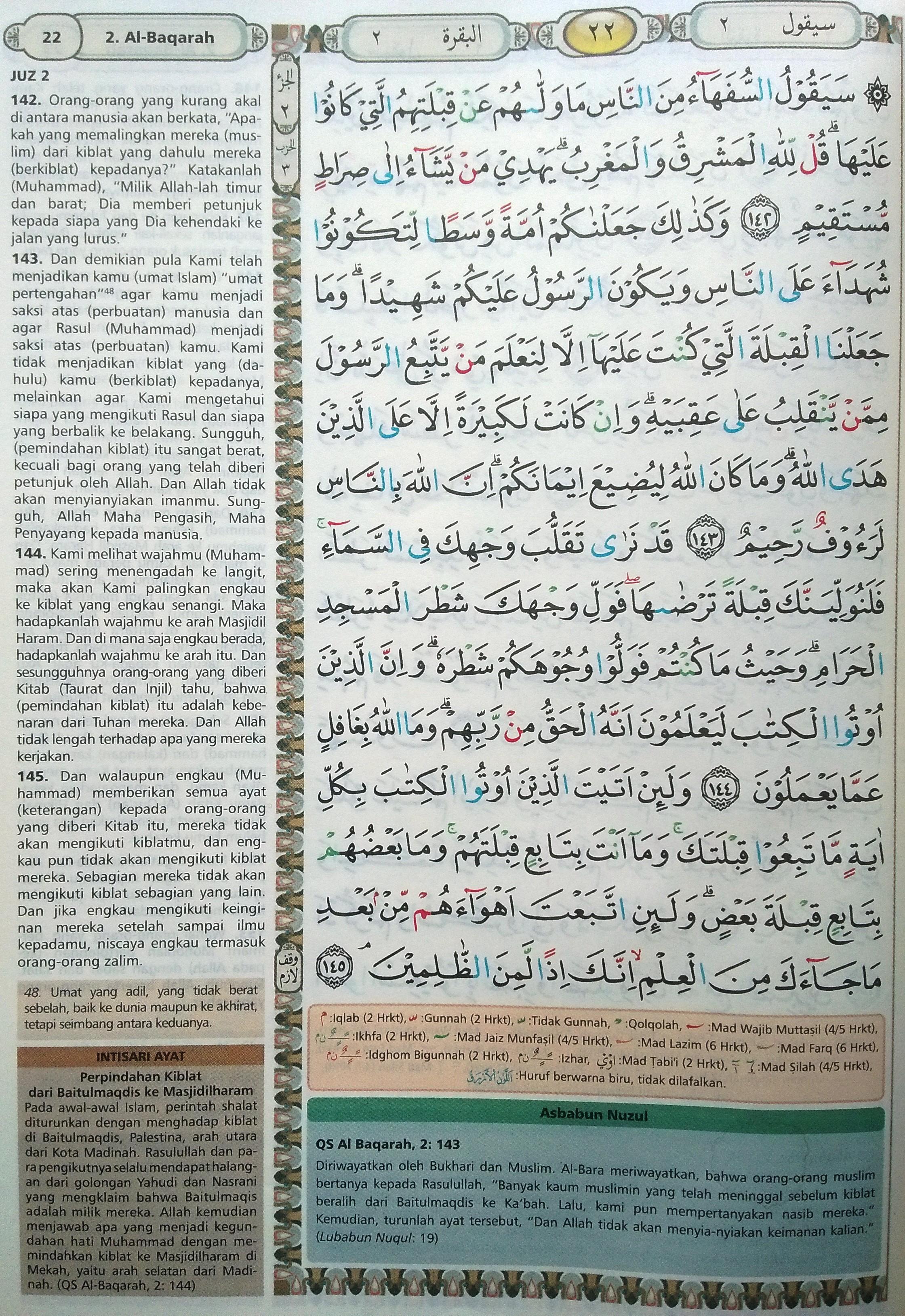 Al Baqarah Ayat 142-145