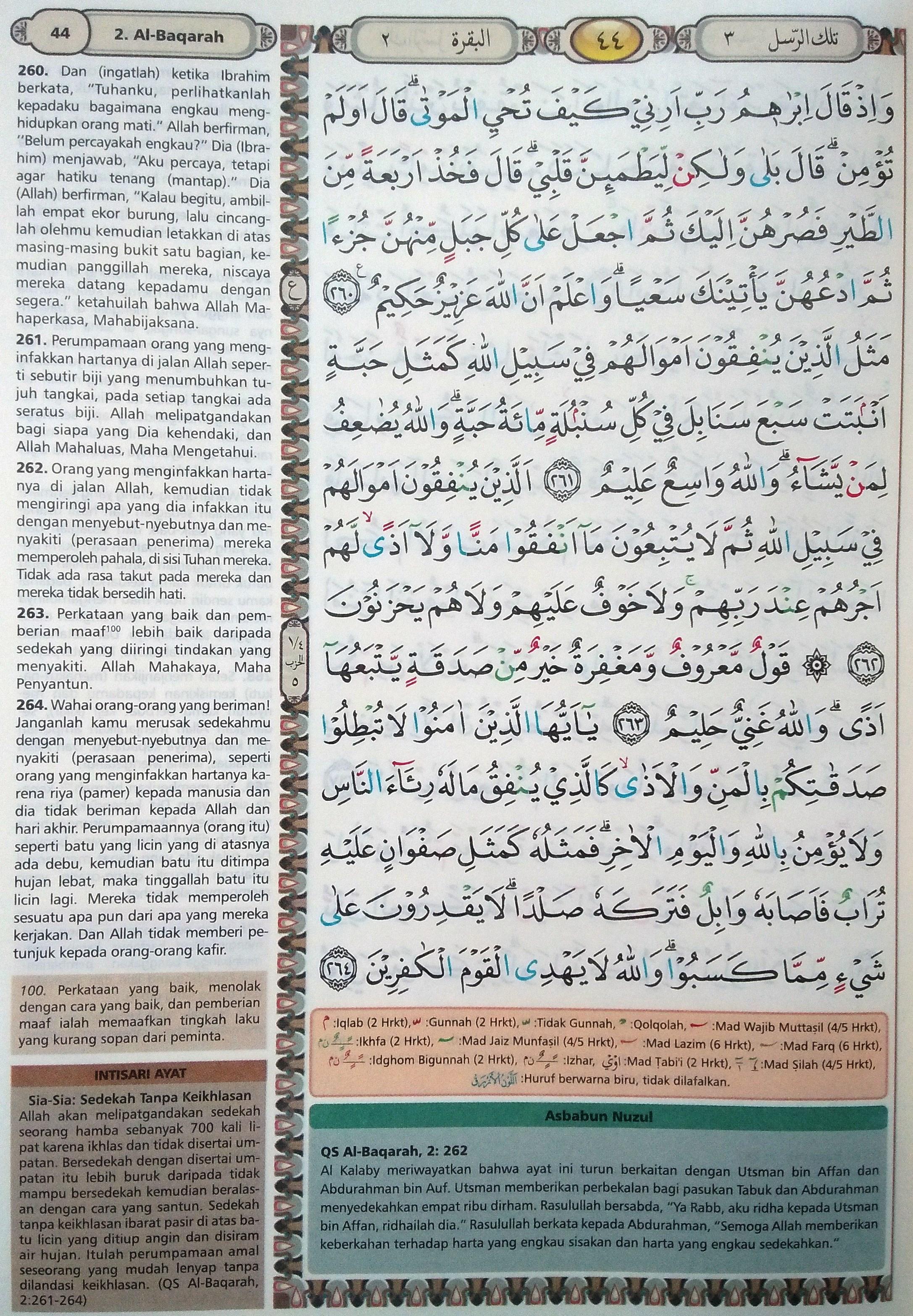 Al Baqarah 260-264