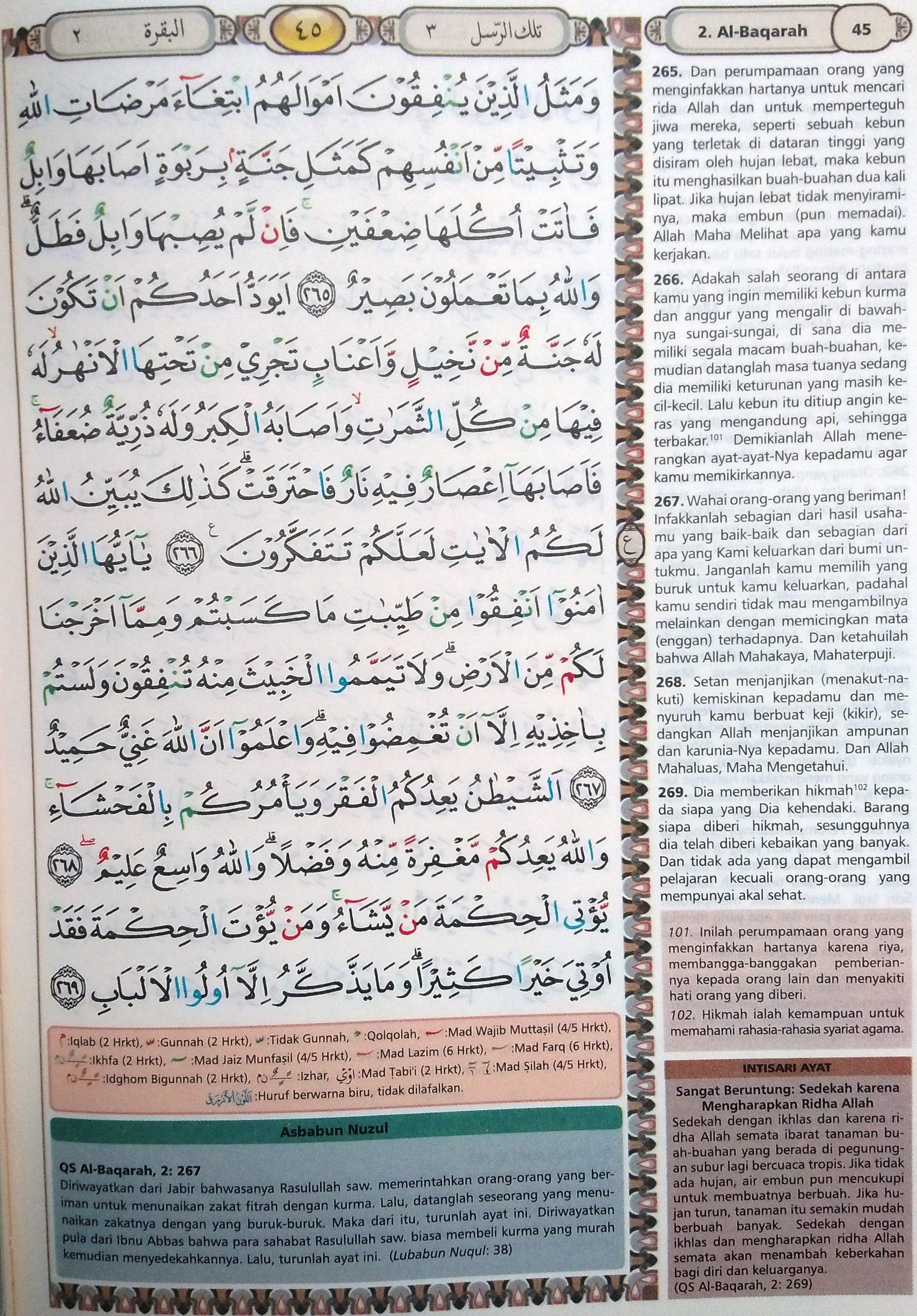 Al Baqarah 265-269