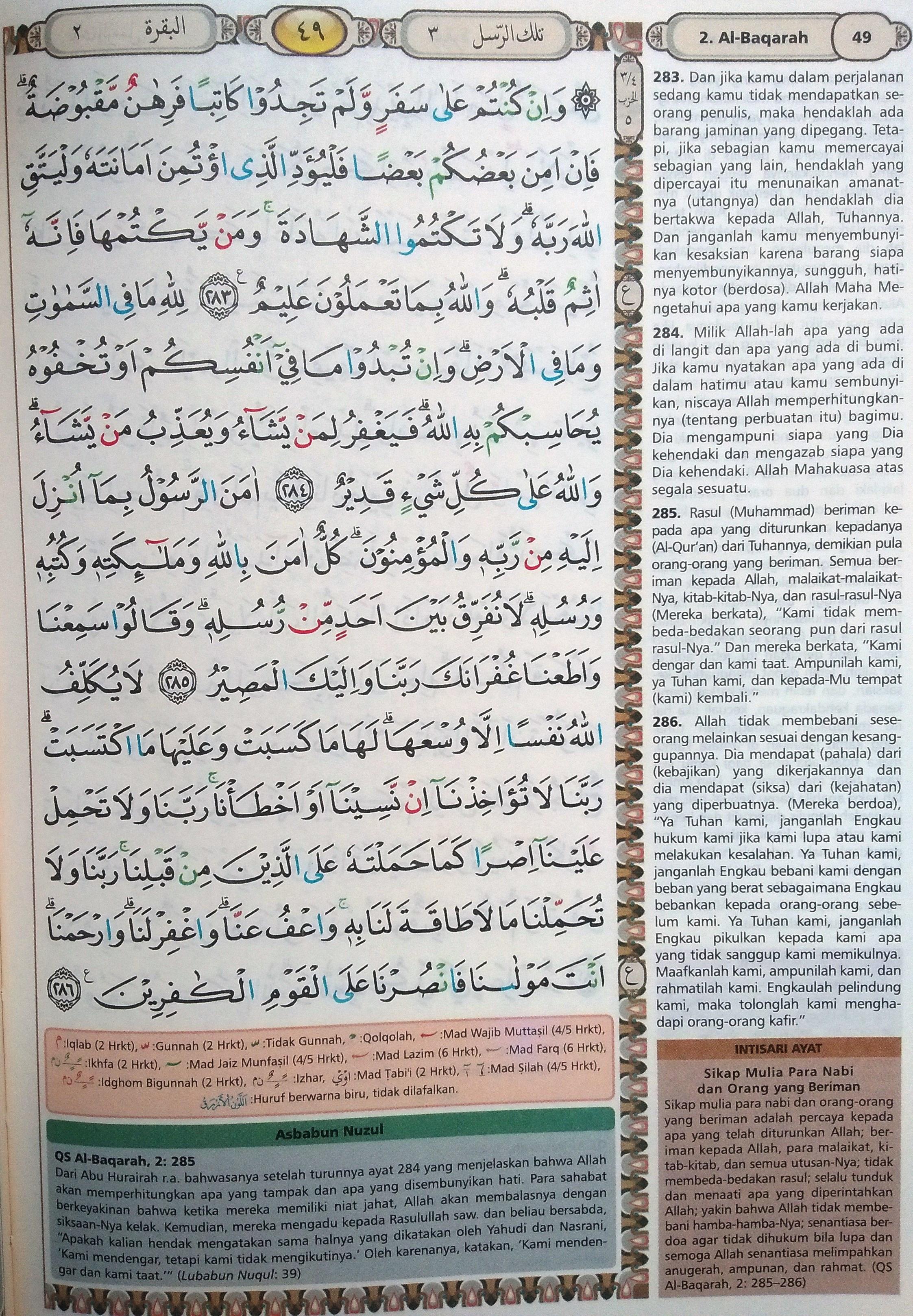Al Baqarah 283-286