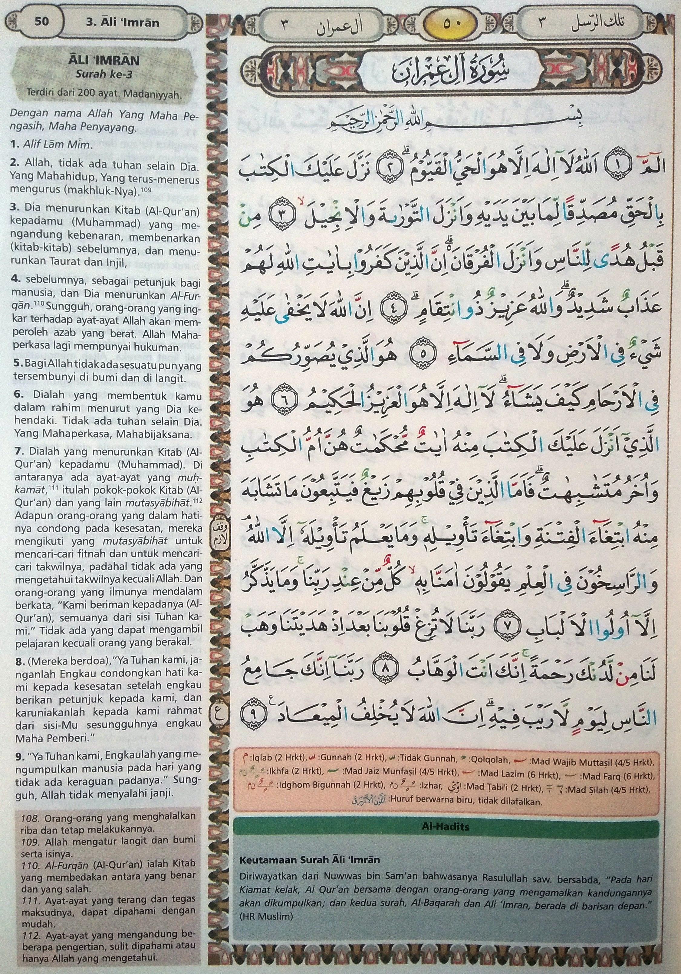 Ali Imran 1-9