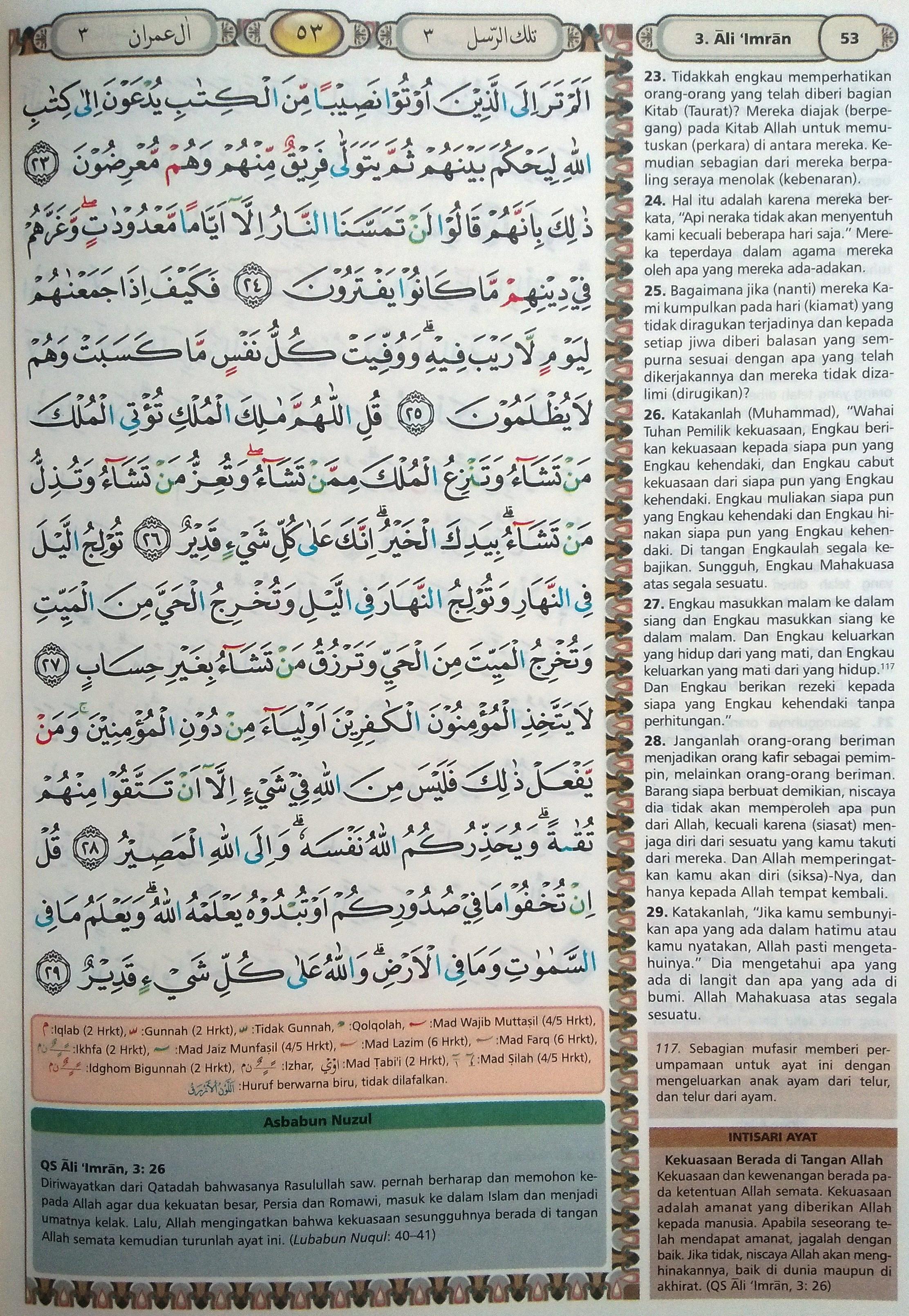 Ali Imran 23-29