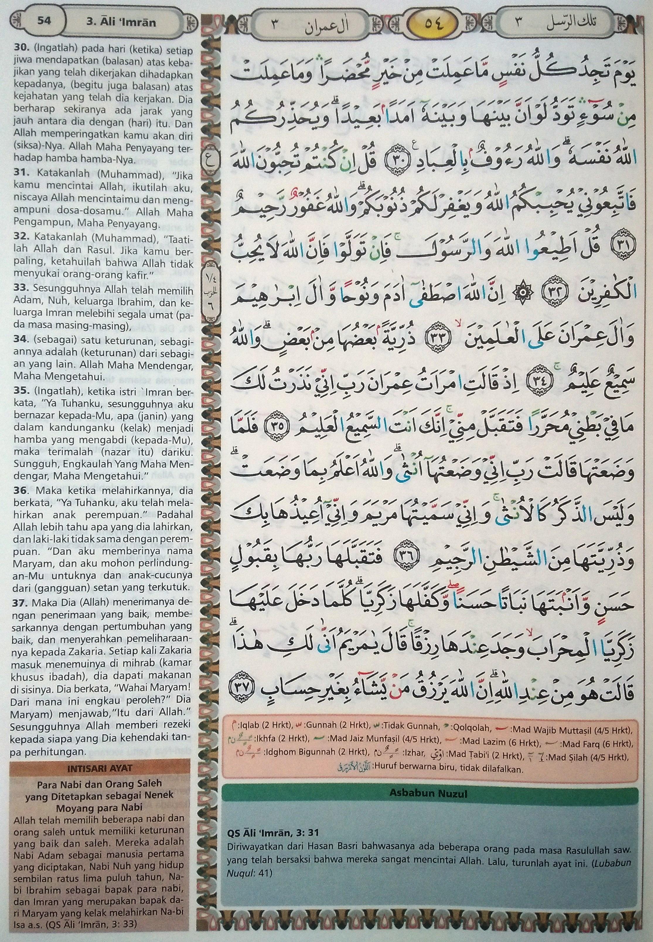 Ali Imran 30-37