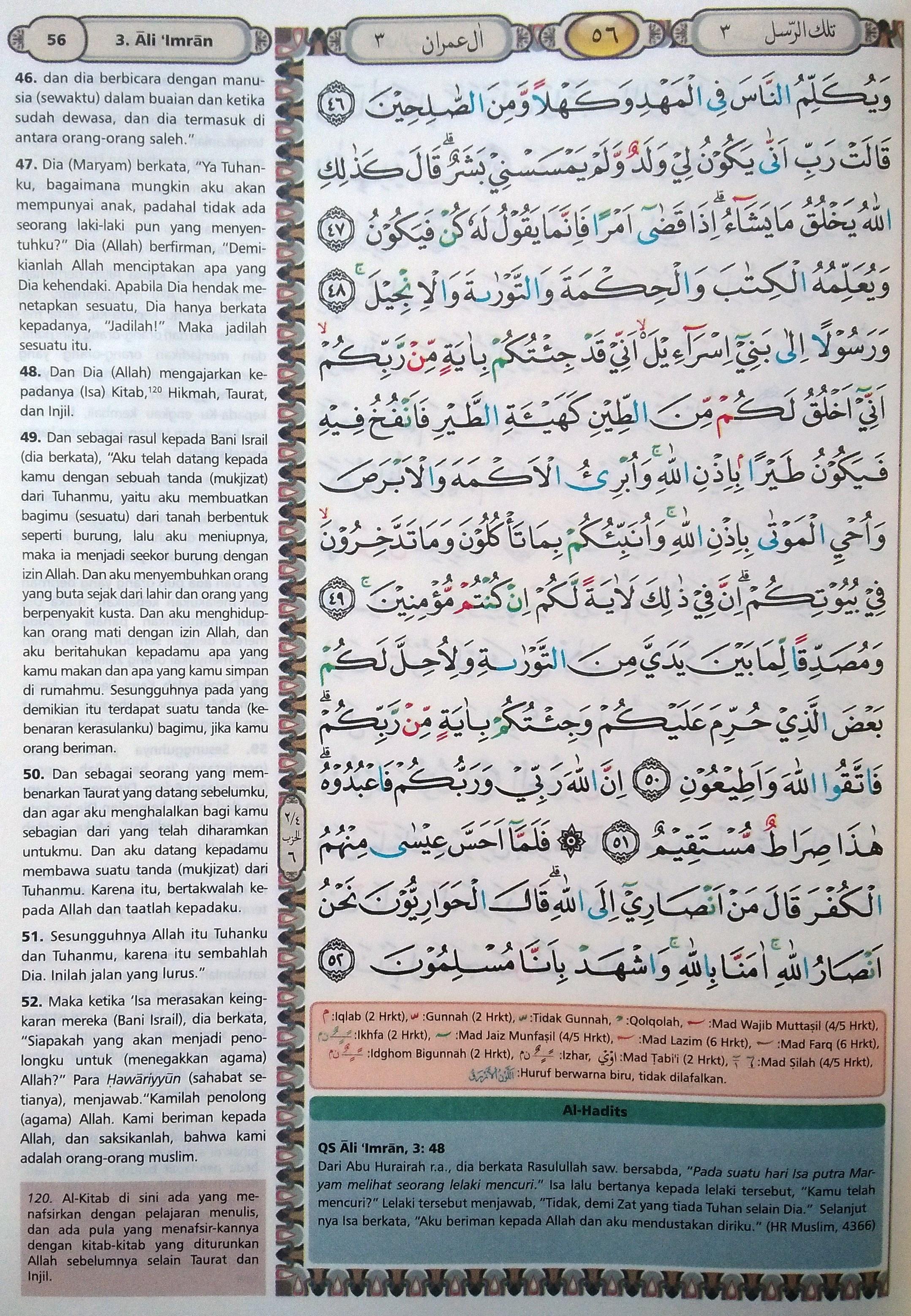 Ali Imran Ayat 46-52