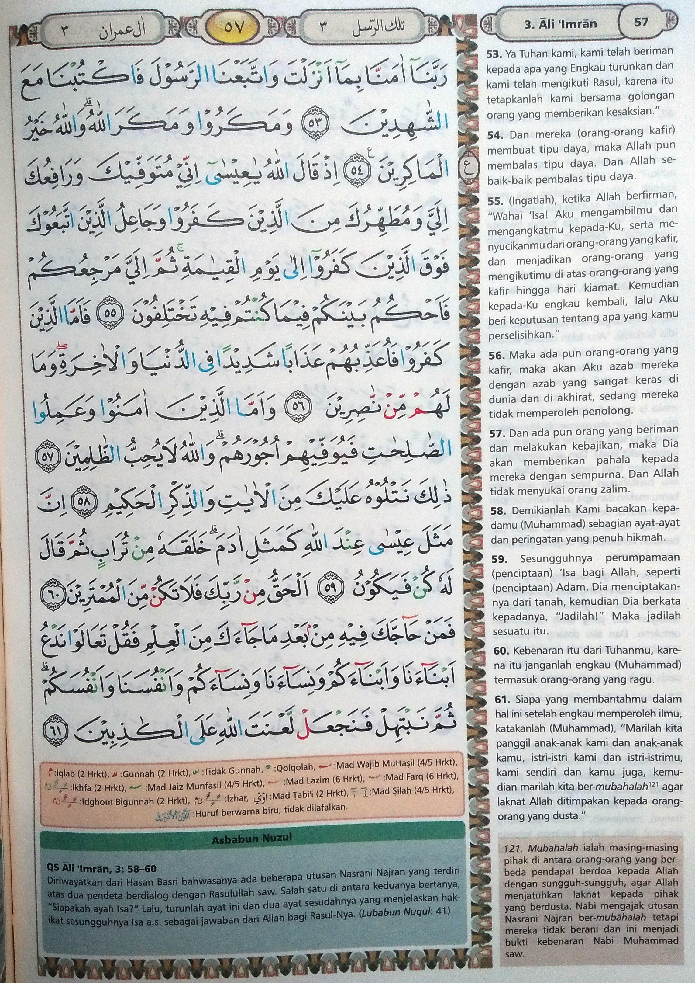 Ali Imran 53-61