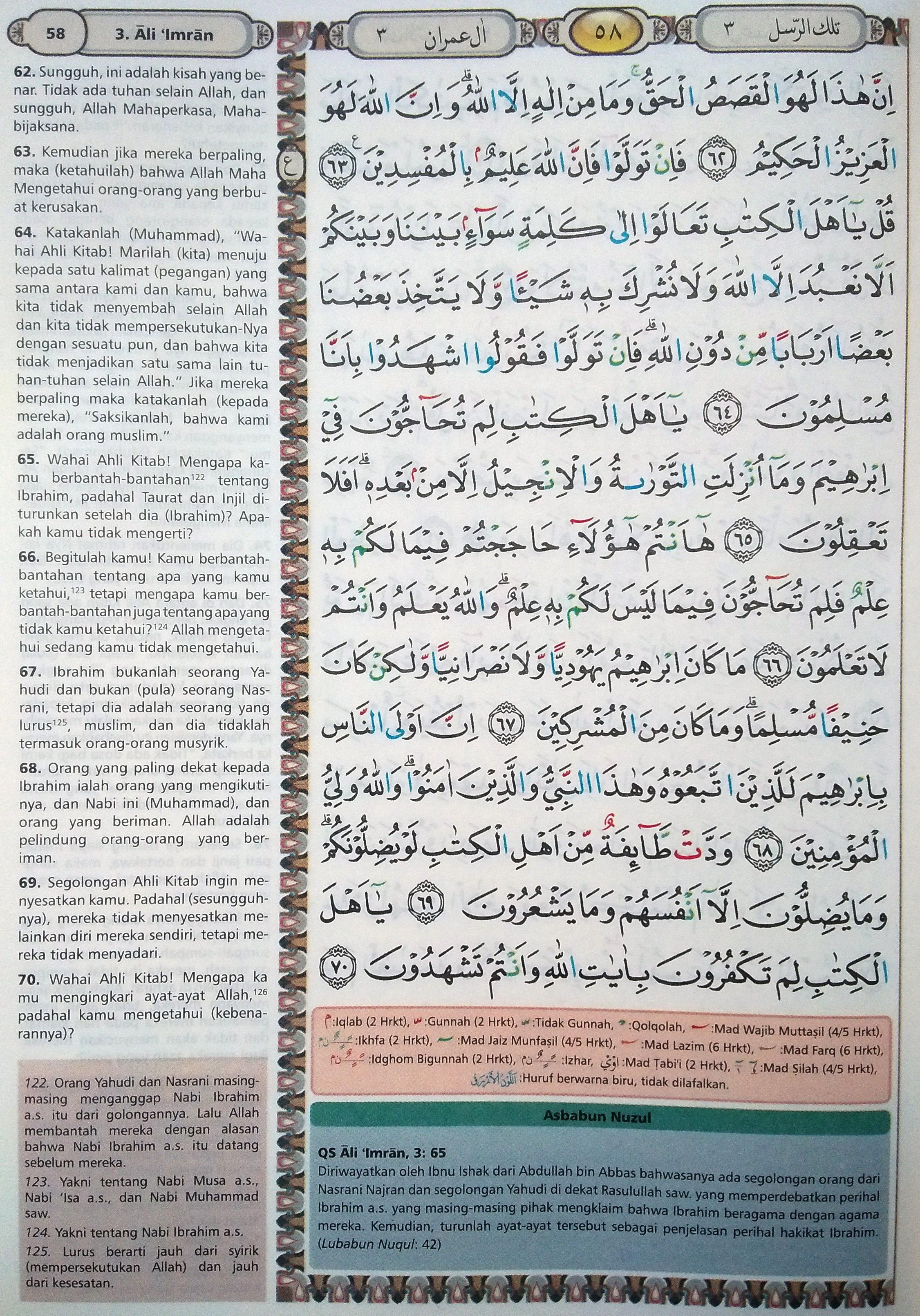 Ali Imran 62-70